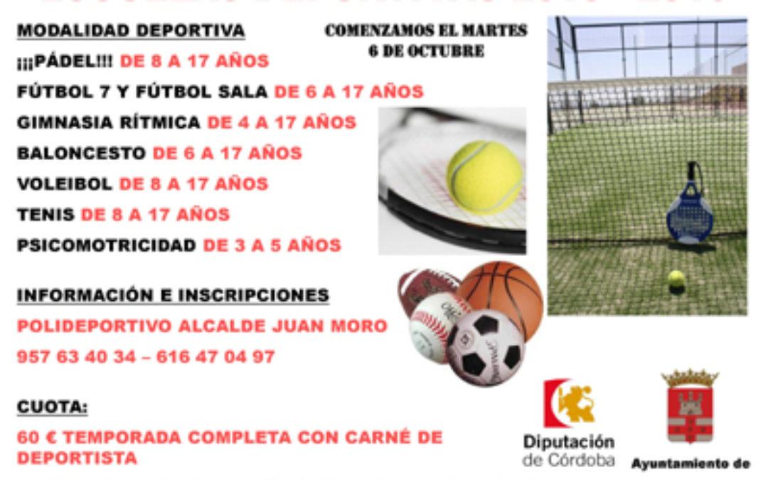 Se abre el plazo para las Escuelas Deportivas Municipales 1