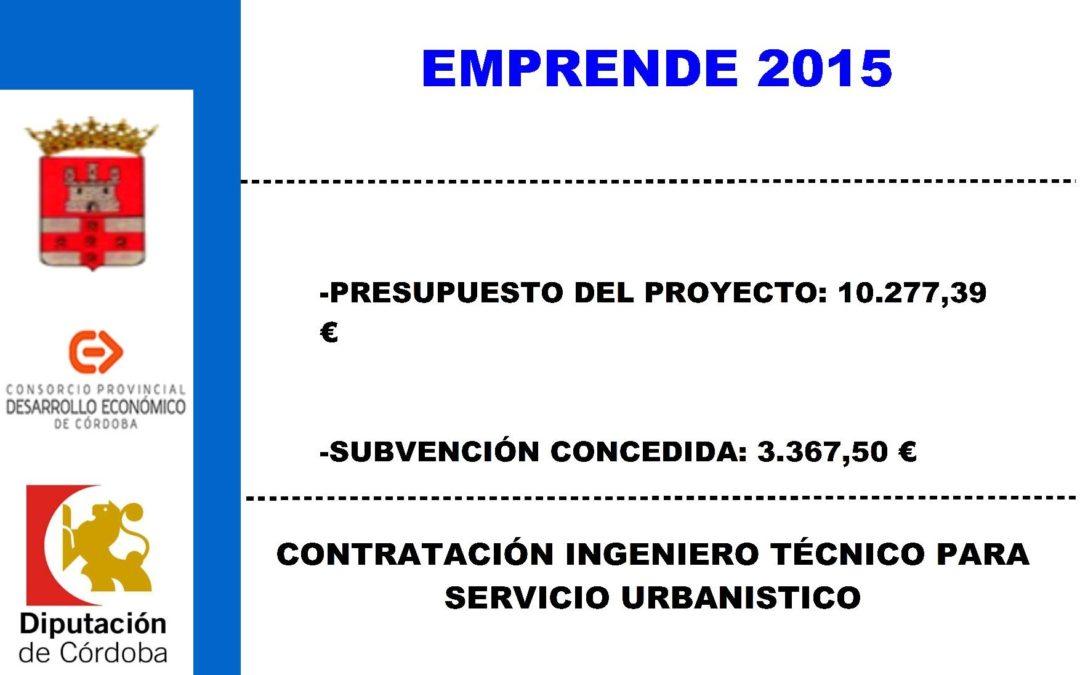 Contratación ingeniero técnico para servicio urbanístico 1