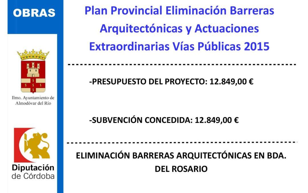 Eliminación de barreras arquitectónicas en Bda. del Rosario 1
