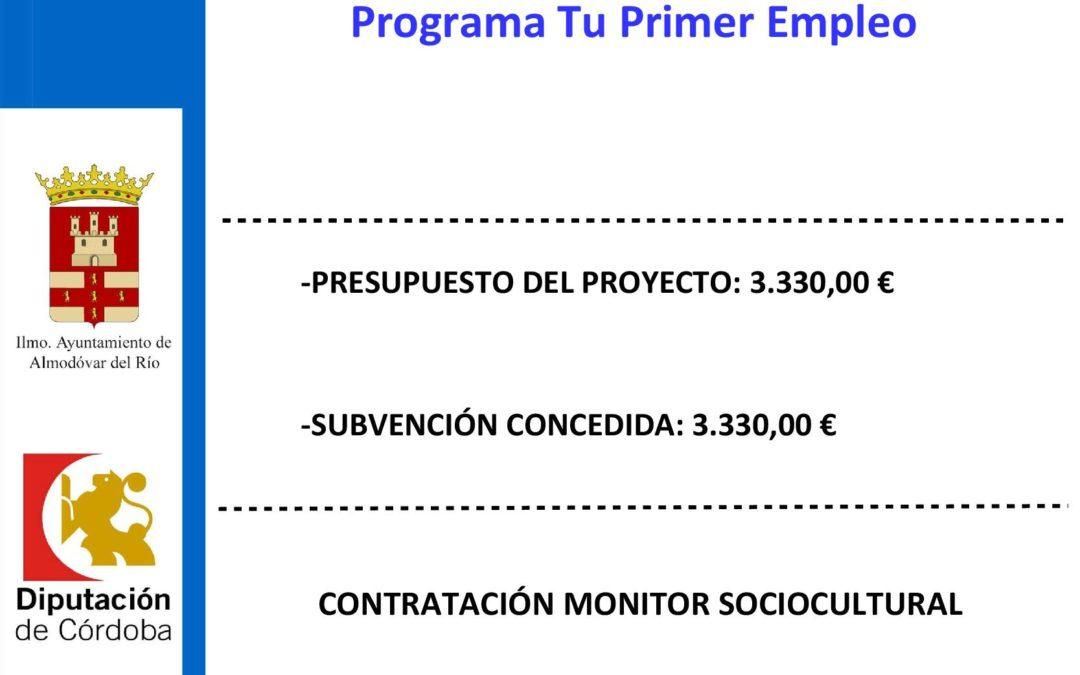 Contratación de monitor sociocultural 1