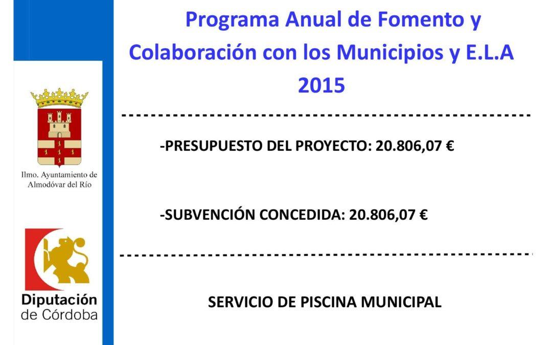 Servicio de piscina municipal 2015 1
