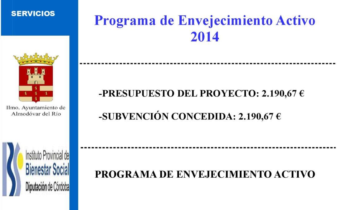 Programa de Envejecimiento Activo 2014 1