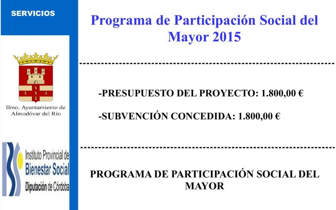Programa de participación social del mayor 2015 1