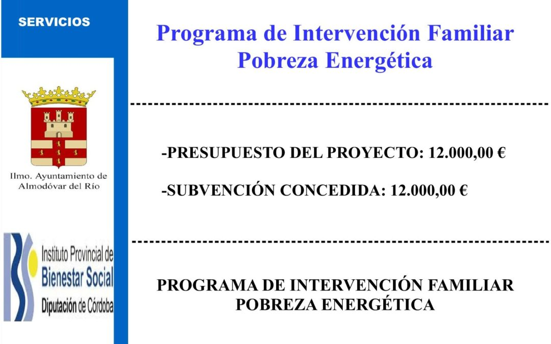 Programa de intervención familiar pobreza energética 1