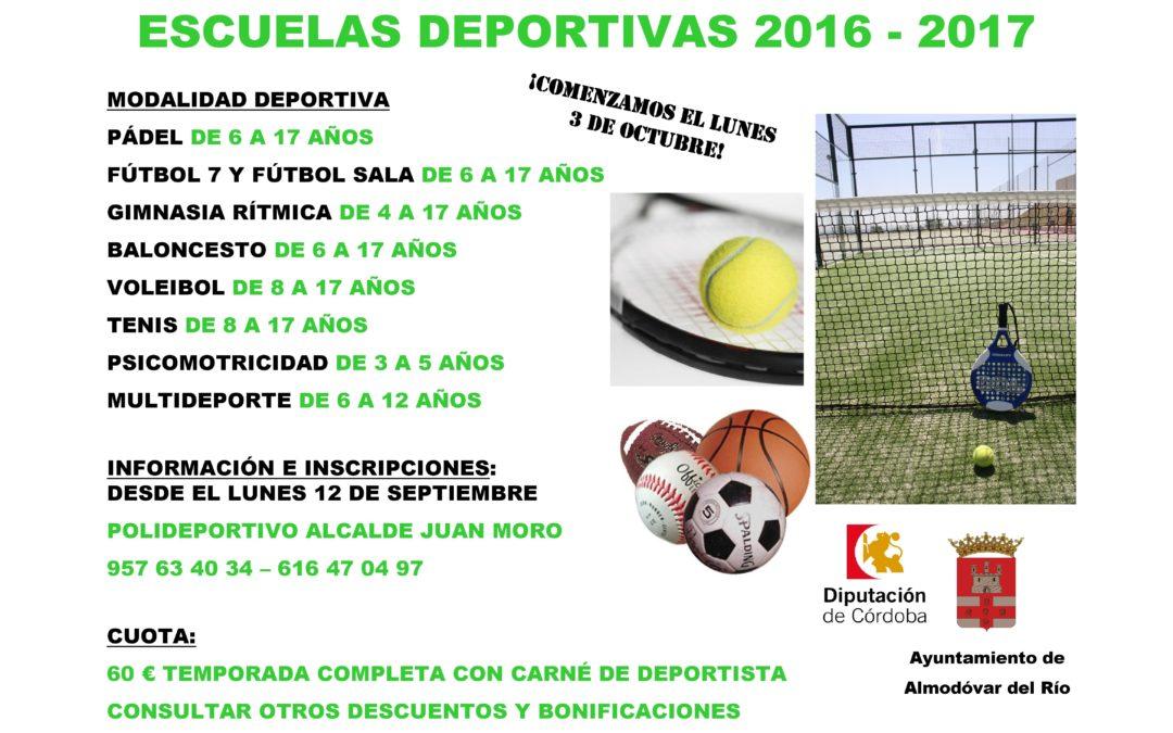 Abierto el plazo para inscribirse en las Escuelas Deportivas Municipales 1