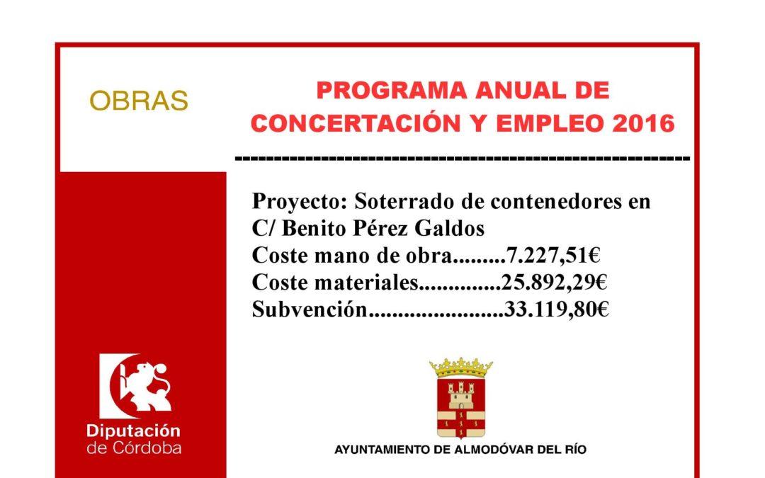 Soterrado de contenedores en C/ Benito Pérez Galdos 1