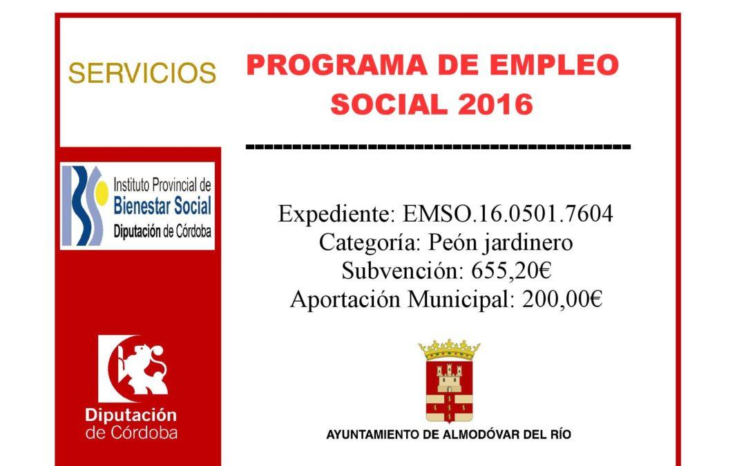 Programa de empleo social 2016 - Exp: EMSO.16.0501.7604 1