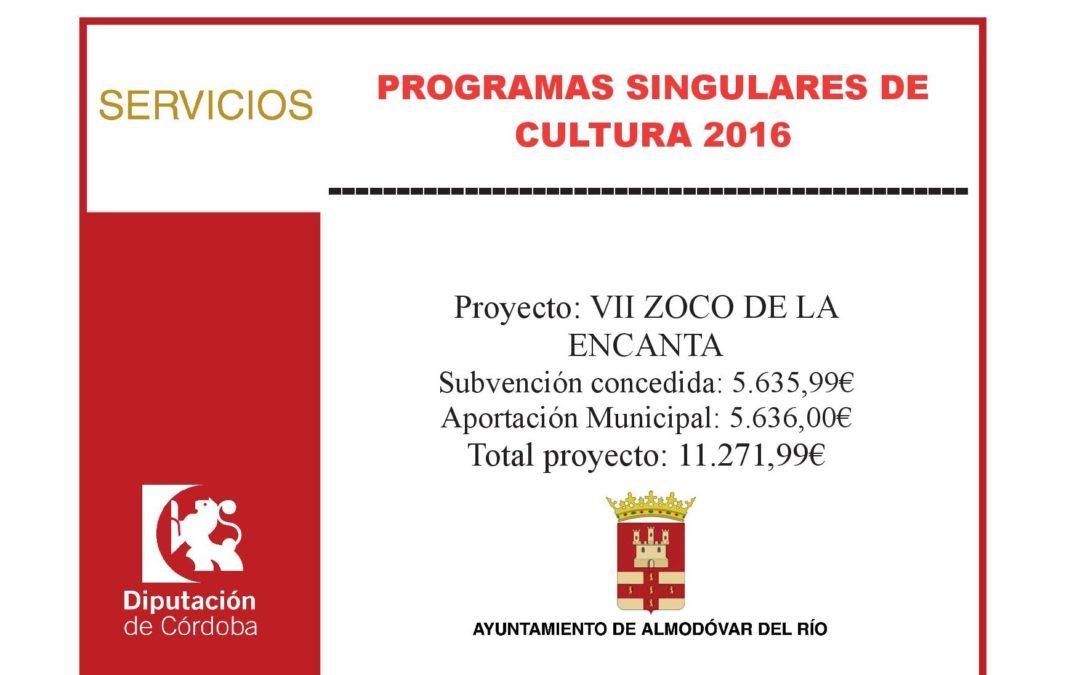 Programas singulares de cultura 2016 1