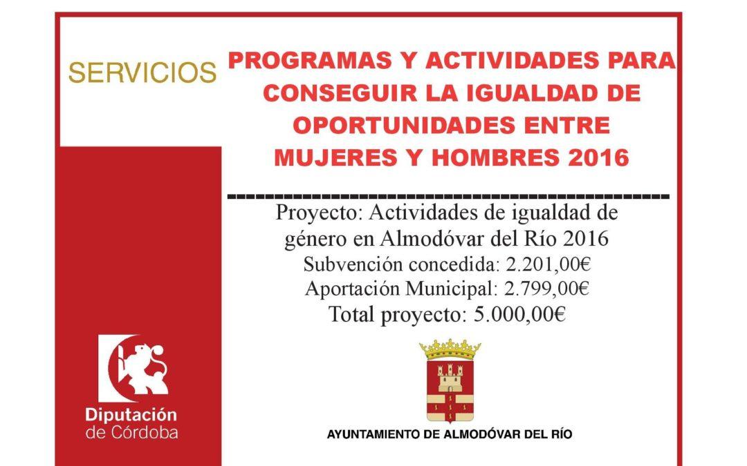 Actividades de igualdad de género en Almodóvar del Río 2016 1