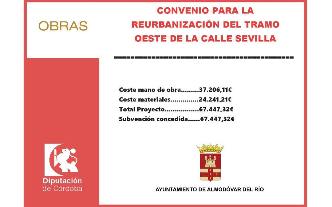 Convenio para la reurbanización del tramo oeste de la calle Sevilla 1