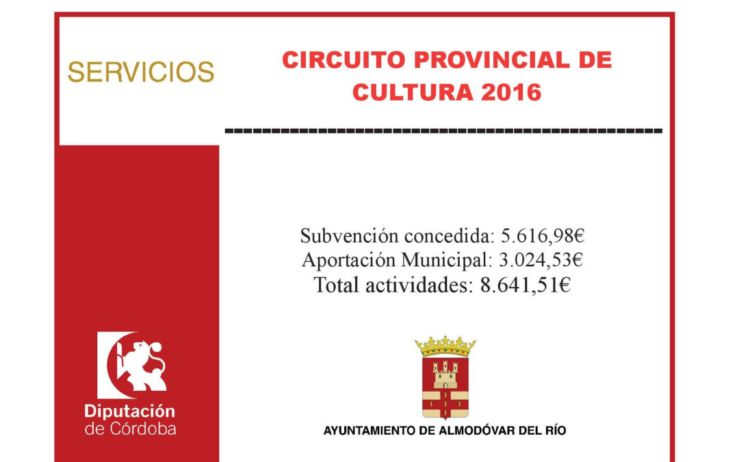 Circuito provincial de cultura 2016 1