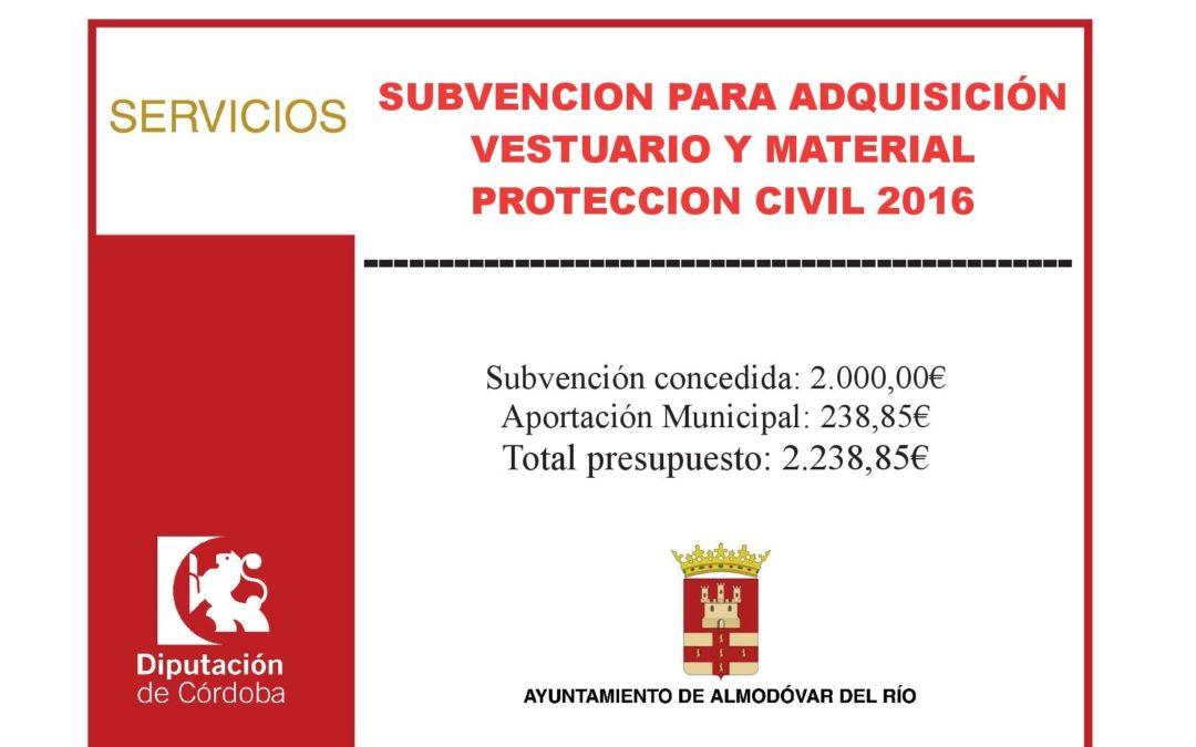 Adquisición de vestuario y material de protección civil 2016 1