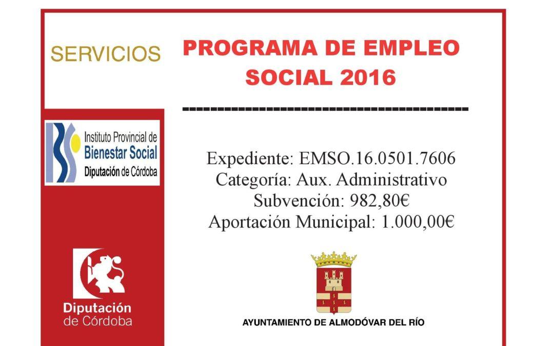 Programa de empleo social 2016 - Exp: EMSO.16.0501.7606 1