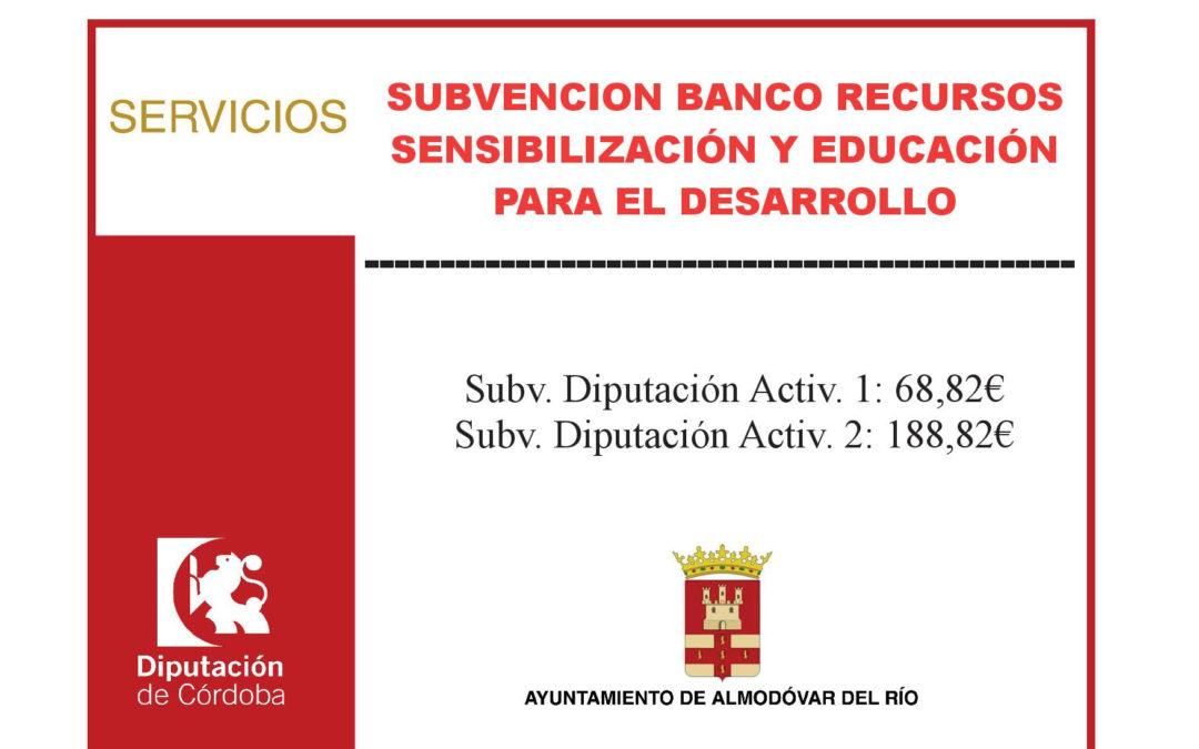 Banco recursos sensibilización y educación para el desarrollo 1
