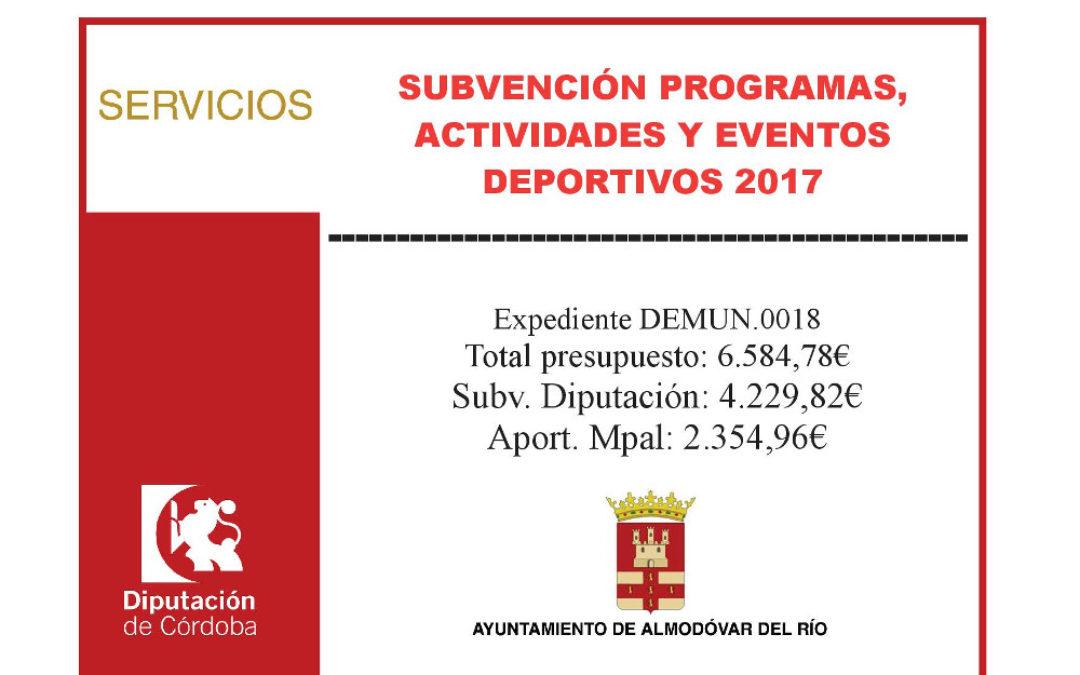 Programas, actividades y eventos deportivos 2017 (DEMUN.0018) 1