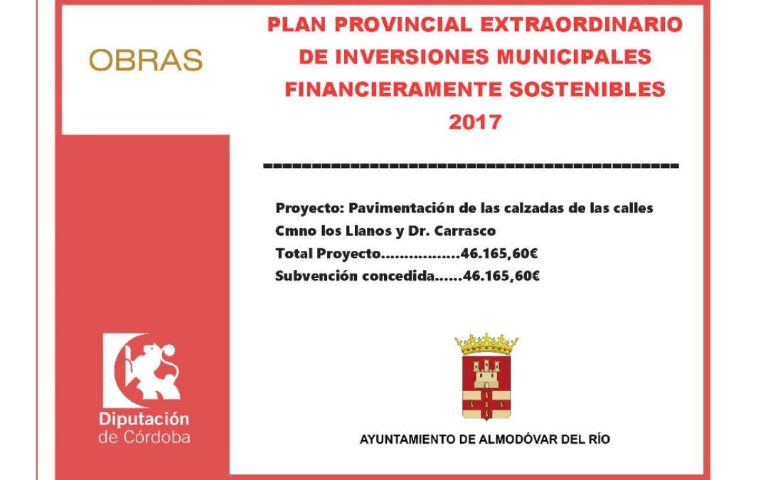 Pavimentación de las calzadas de las calles Cmno Los Llanos y Dr. Carrasco 1