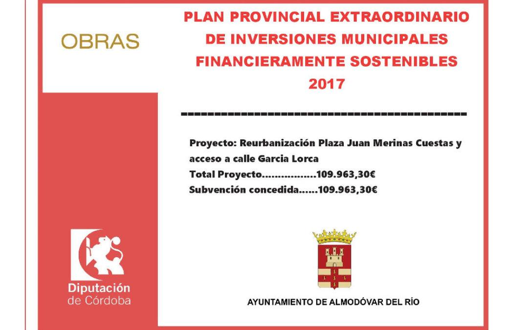 Reurbanización Plaza Juan Merinas Cuestas y acceso a calle García Lorca 1