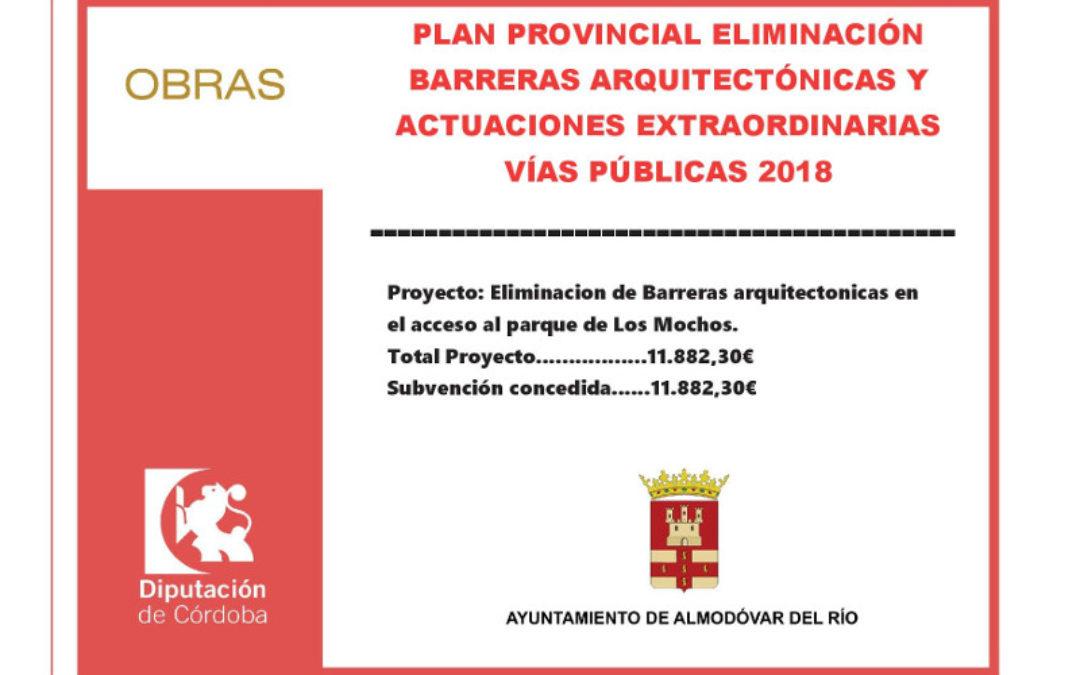 Eliminación de barreras arquitectónicas en el acceso al parque de Los Mochos. 1