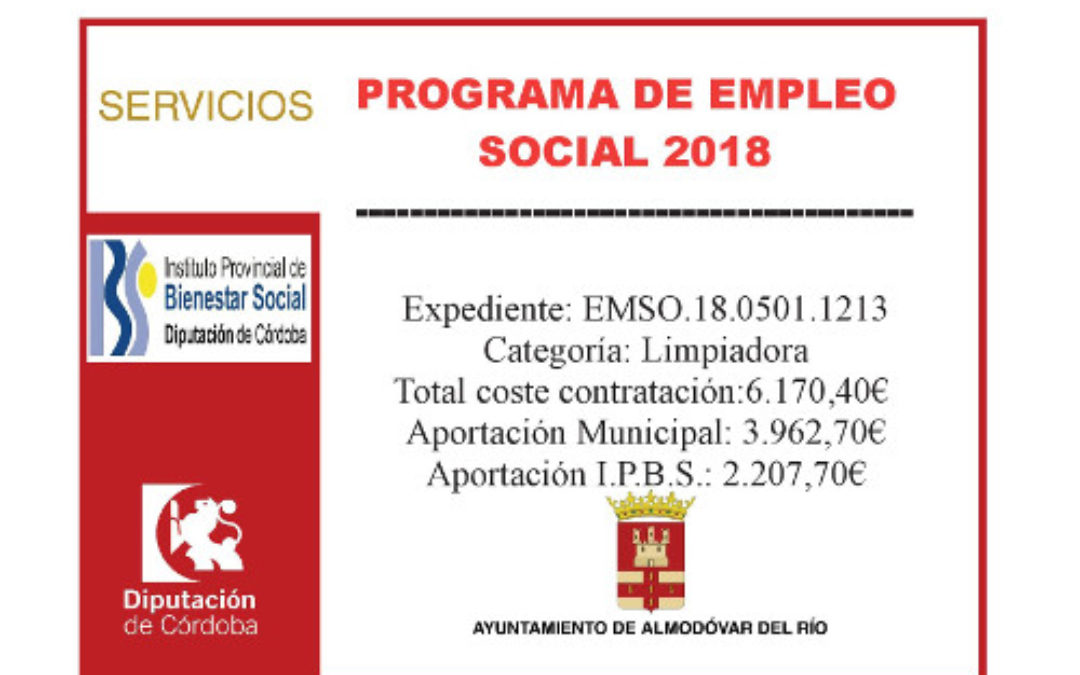 Programa de empleo social 2018 (Limpiadora) 1