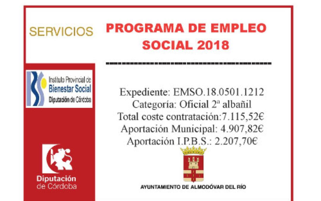 Programa de empleo social 2018 (Oficial 2ª Albañil) 1