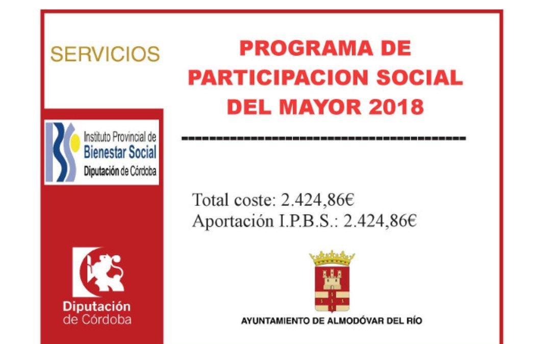 Programa de participación social del mayor 2018 1