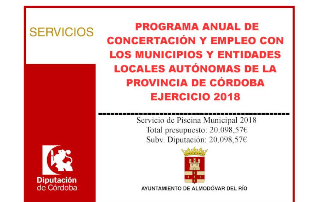 Servicio de Piscina Municipal 2018 1