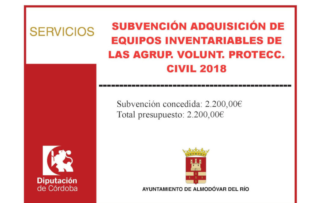 Adquisición de equipos inventariables de las Agrup. Volunt. Protecc. Civil 2018 1