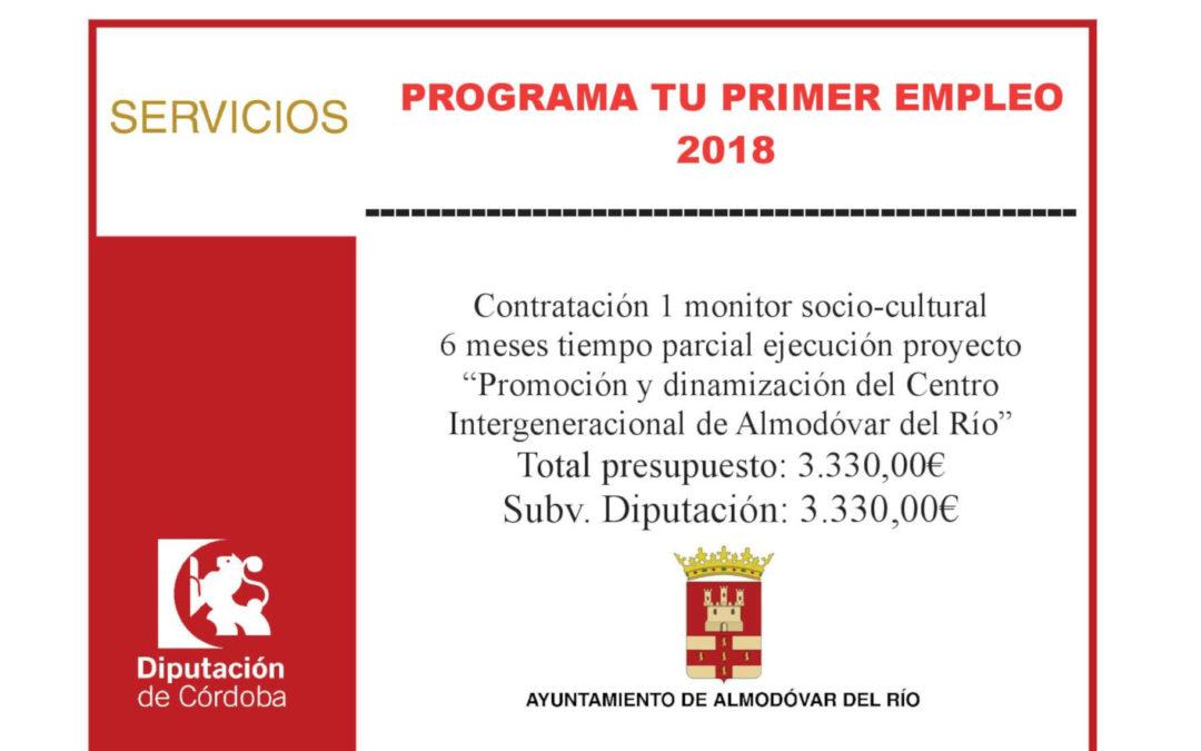Contratación monitor socio-cultural 6 meses tiempo parcial para promoción y dinamización del Centro Intergeneracional 1