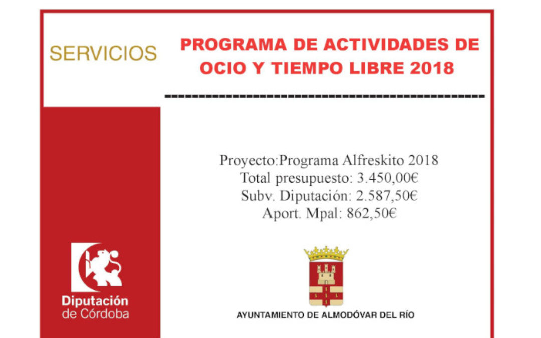 Programa Alfreskito 2018 1