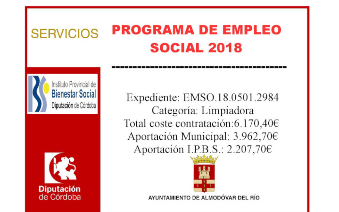 Programa de empleo social 2018 - Limpiadora (EMSO.18.0501.2984) 1