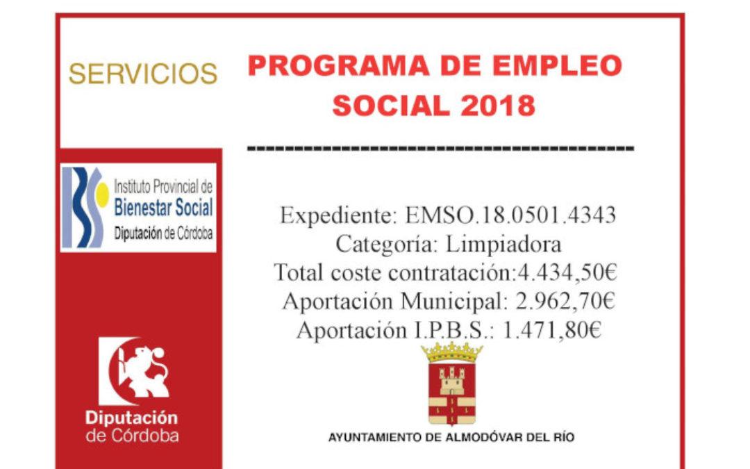 Programa de Empleo Social 2018 - Limpiadora (EMSO.18.0501.4343) 1