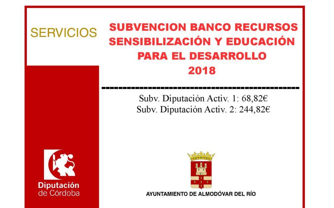Banco de recursos sensibilización y educación para el desarrollo 2018 1