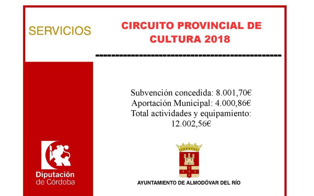 Circuito provincial de cultura 2018 1