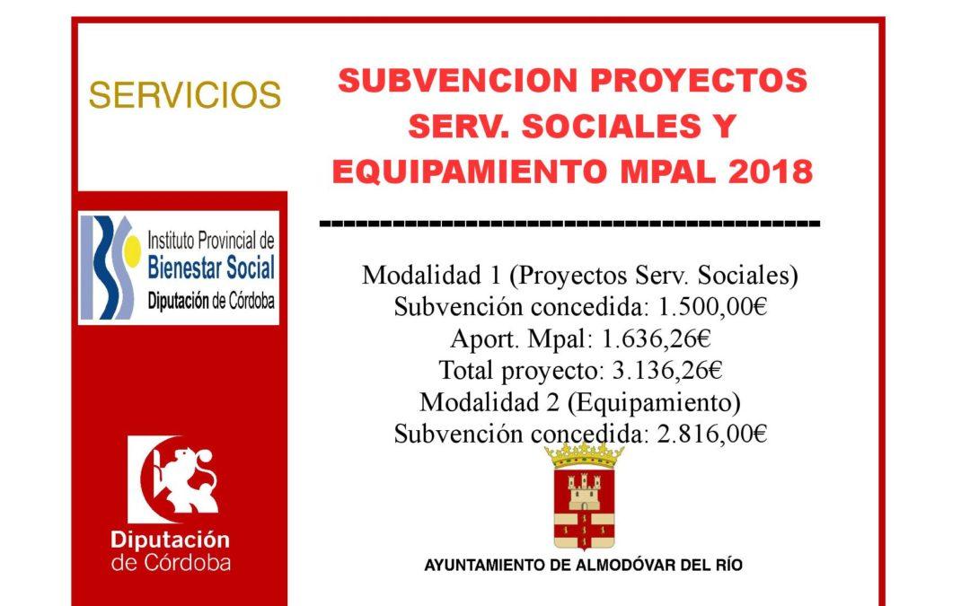 Proyectos de Servicios Sociales y equipamiento municipal 2018 1