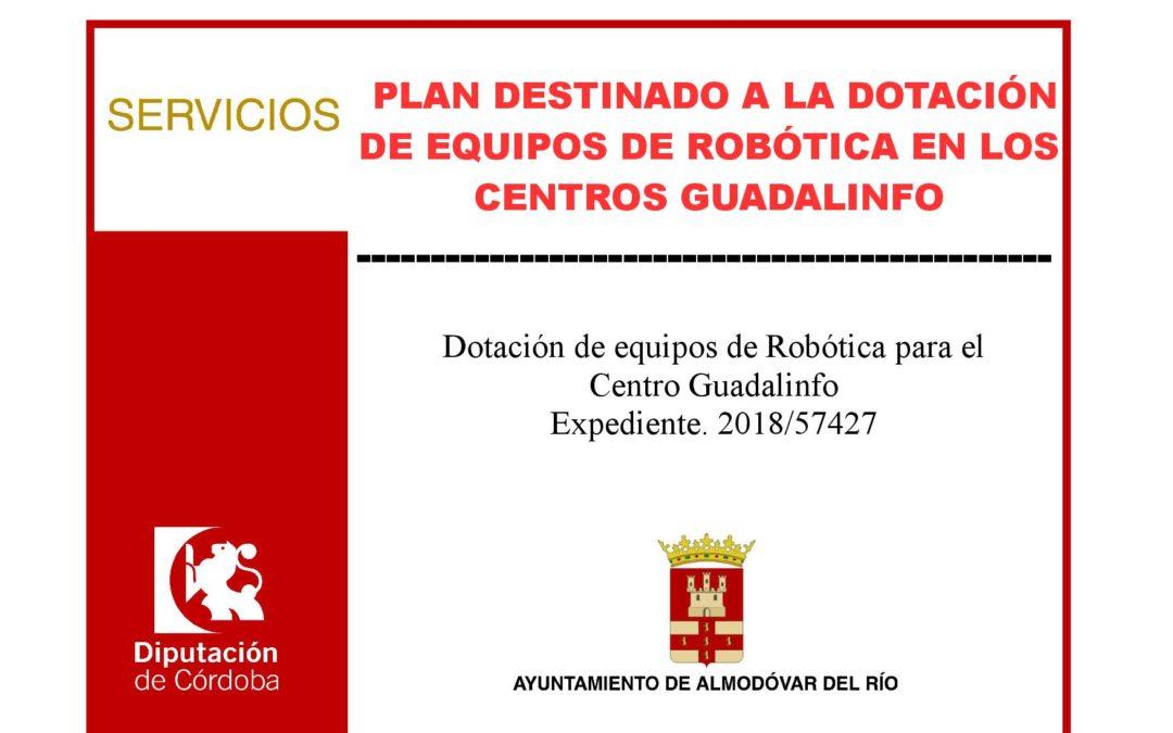 Plan destinado a la dotación de equipos de robótica en los Centros Guadalinfo 1