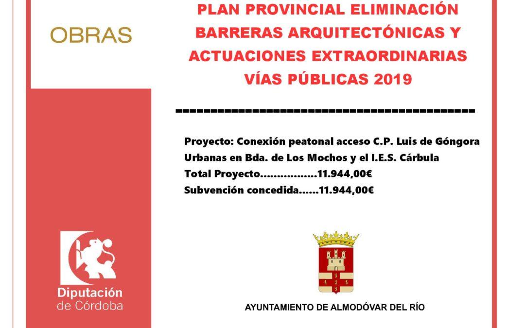 Plan provincial de eliminación de barreras arquitectónicas y actuaciones extraordinarias en vías públicas 2019 1