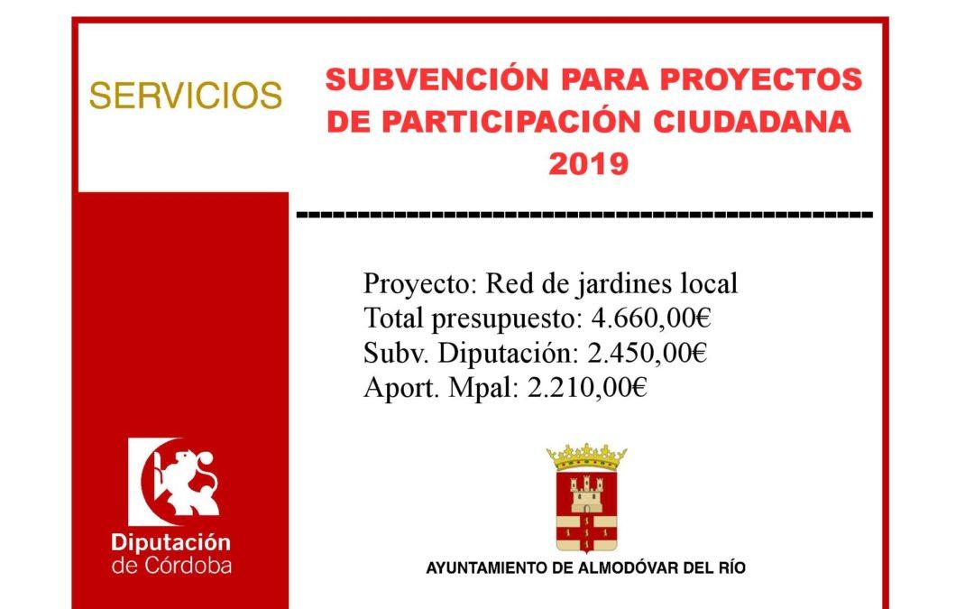 Proyectos de participación ciudadana 2019 - Red de jardines locales 1