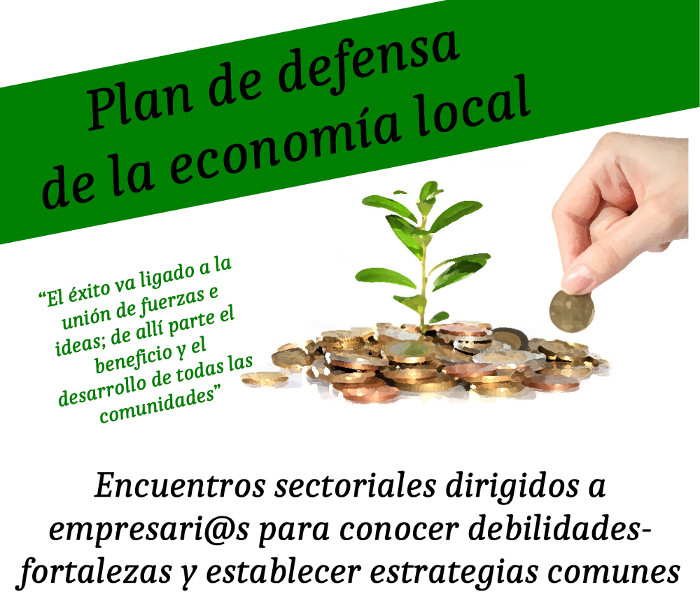 Cartel del plan de defensa de la economía local