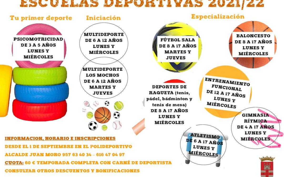 Se retoma la actividad de las Escuelas Deportivas Municipales